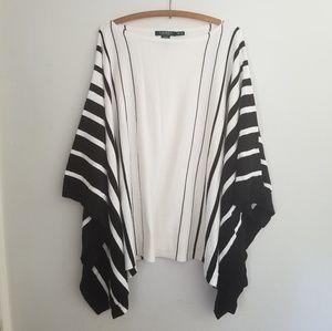 Ralph Lauren striped poncho sweater medium